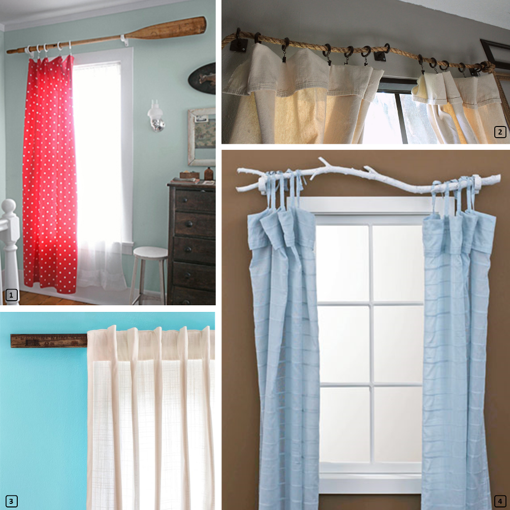 Creative curtain rods for personalizing homes