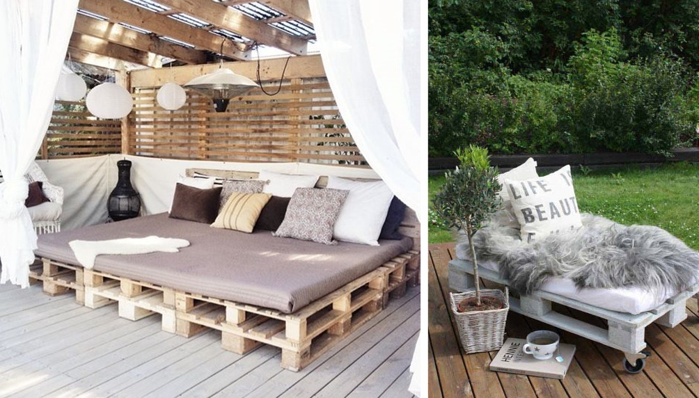 pallets as outdoor furniture for rentals bnbstaging le blog. Black Bedroom Furniture Sets. Home Design Ideas