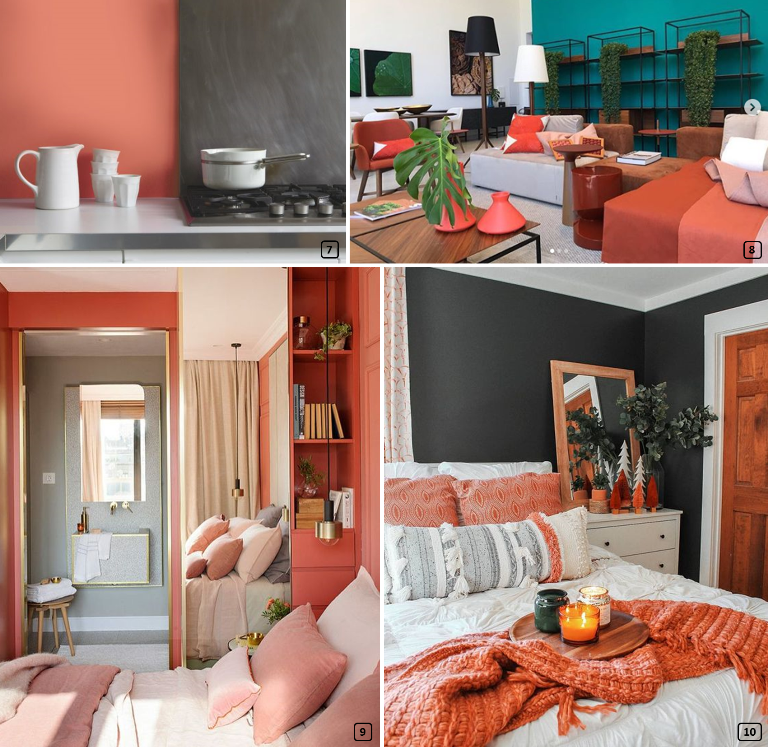 Living Coral in interiors