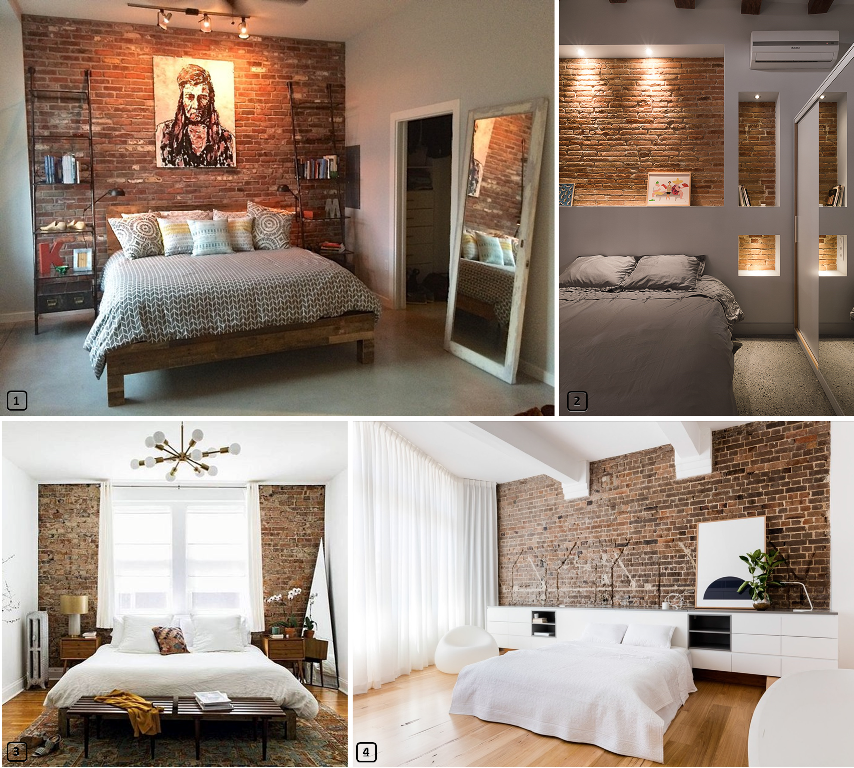 Red brick walls a decorative asset for rentals - Decoration chambre blanche ...