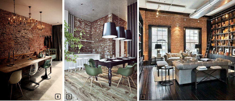 ... Living Rooms With Red Brick Walls