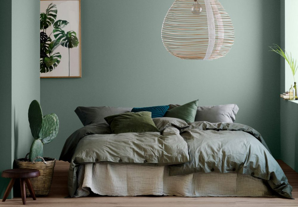 Sage green color on the wall, Jotun - BnbStaging le blog