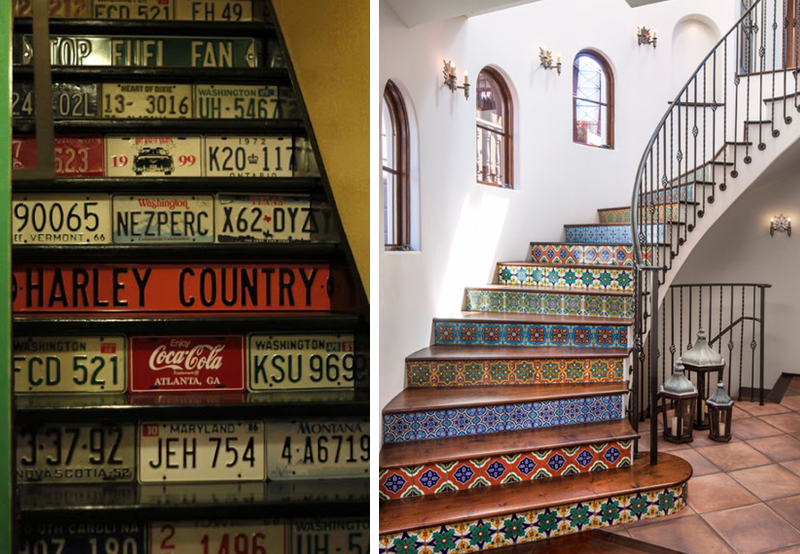20 amazing makeover ideas for the stairs bnbstaging le blog - Stickers pour marche d escalier ...