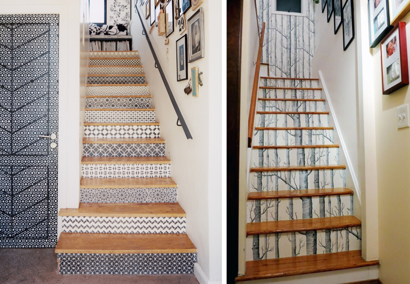 20 amazing makeover ideas for the stairs bnbstaging le blog for Idee deco cage d escalier