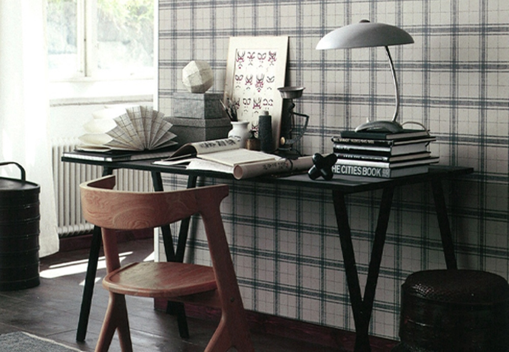 Tartan print wallpaper, Sandberg - BnbStaging the blog