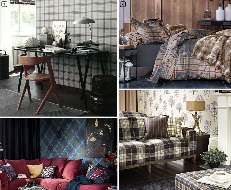 Tartan print in homes