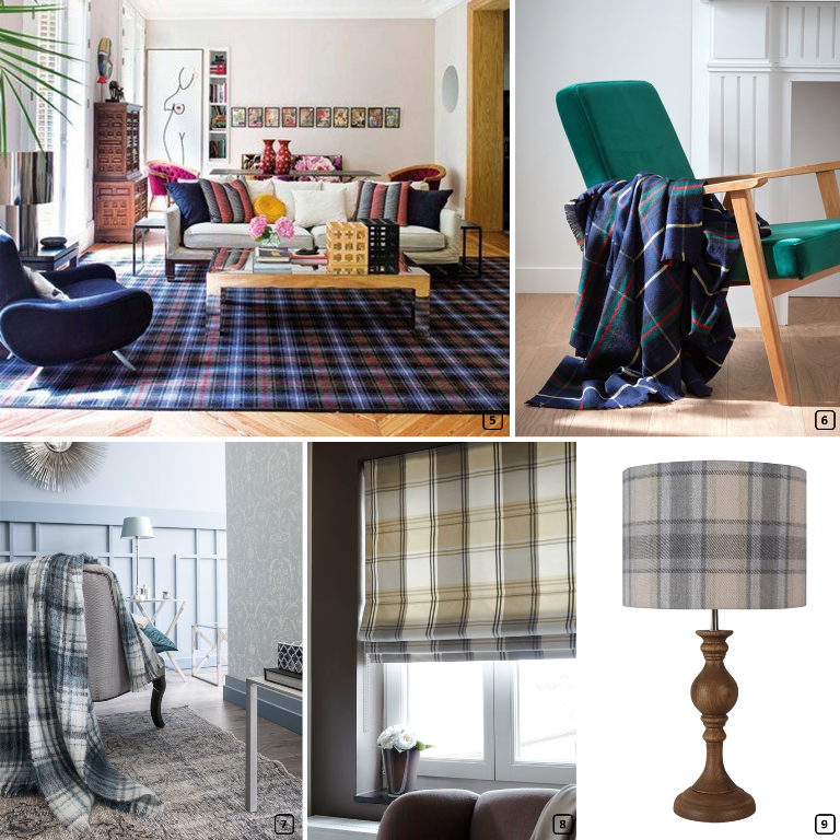 Tartan print in home decor