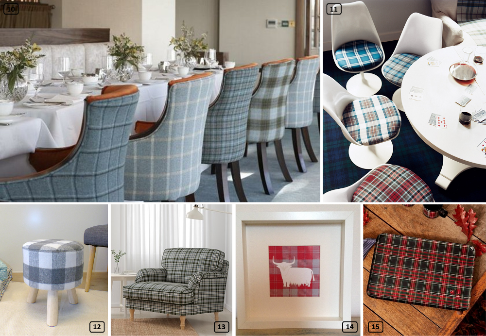 Tartan print in decoration