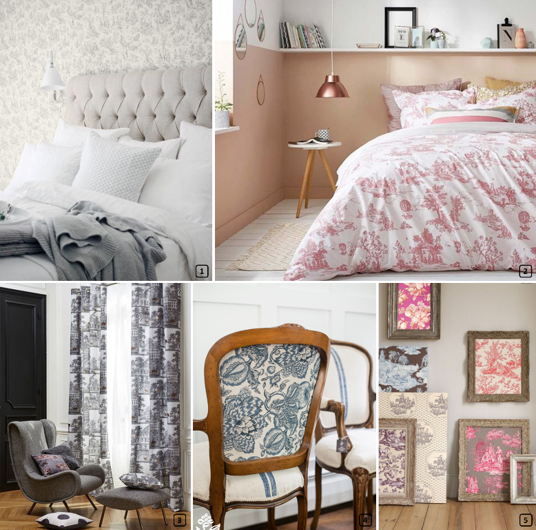 Jout prints on bedlinen, wallpaper, curtain, chairs