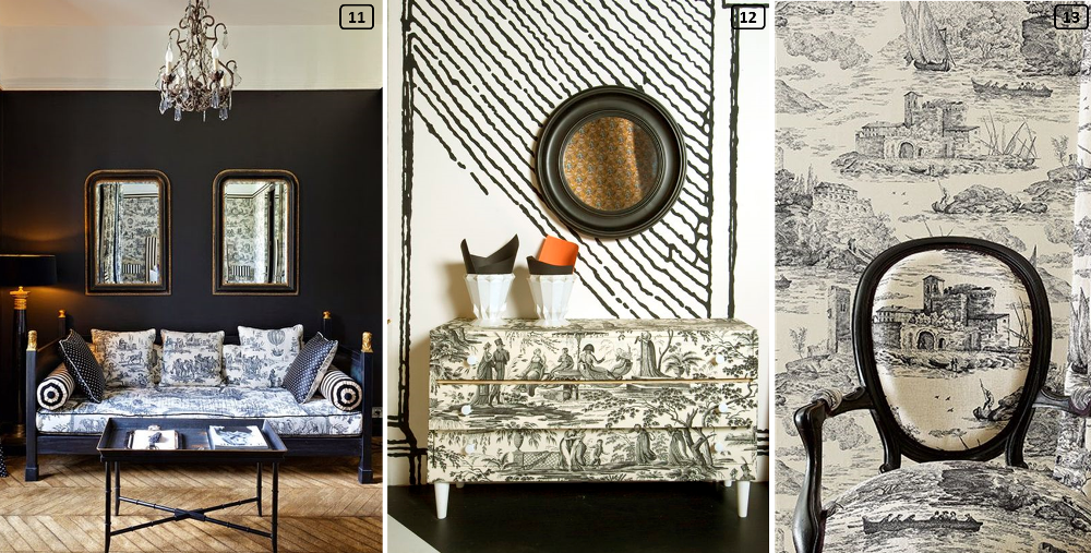 Jouy prints in contemporary interiors