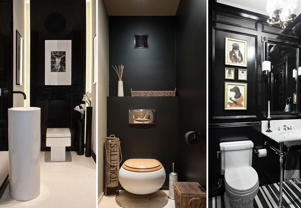deco wc noir et or. Black Bedroom Furniture Sets. Home Design Ideas