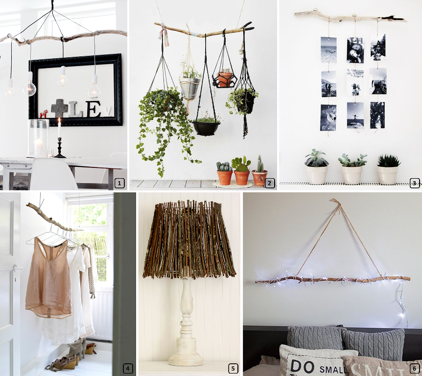 DIY ideas with wooden branches
