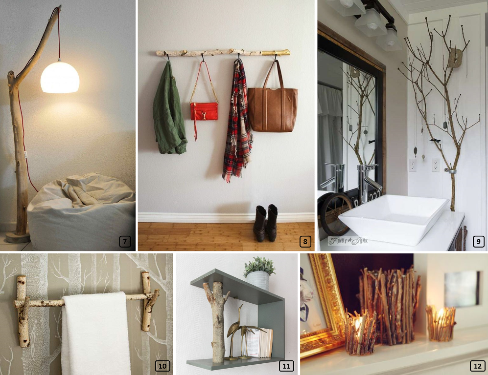 DIY projects with wooden branches