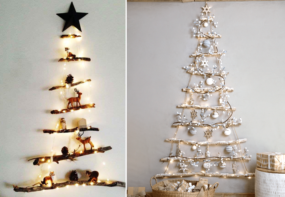 Homemade Christmas tree - BnbStaging the blog