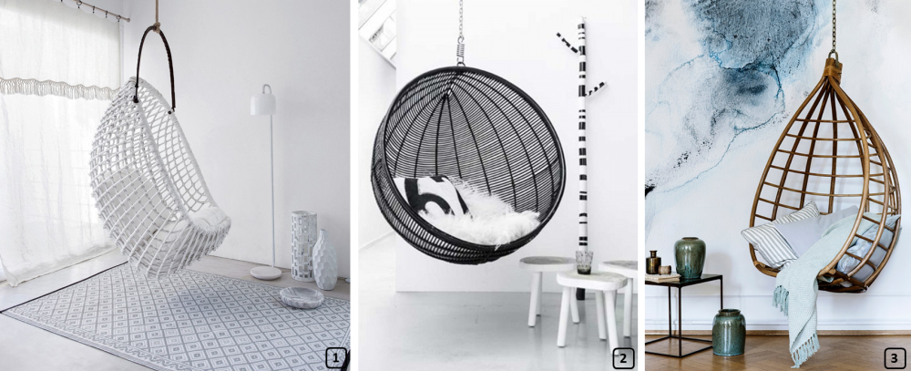 14 trending hanging chairs for interiors bnbstaging le blog. Black Bedroom Furniture Sets. Home Design Ideas