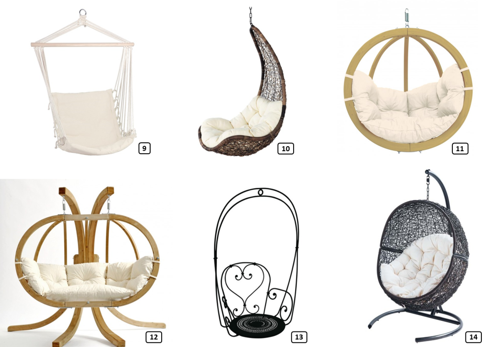 Six trending hanging chairs
