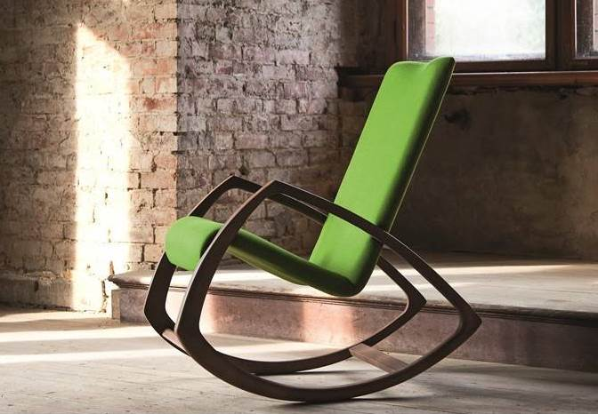 Green designed rocking chair