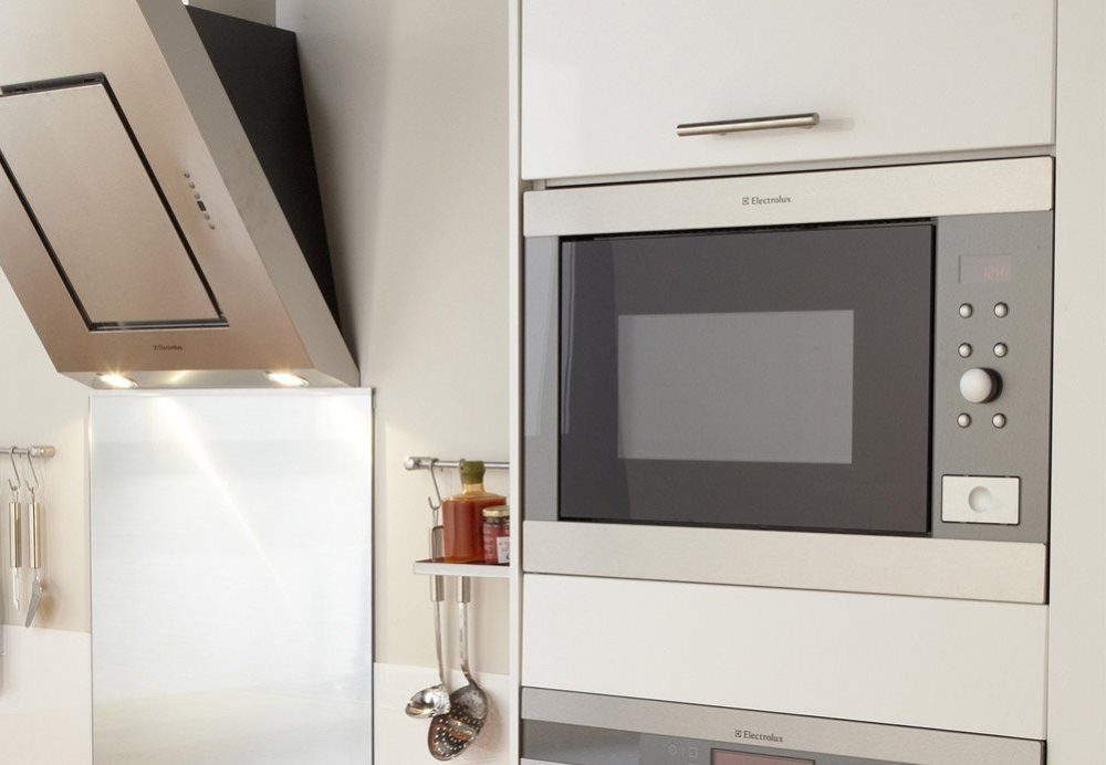 Microwave in a kitchen