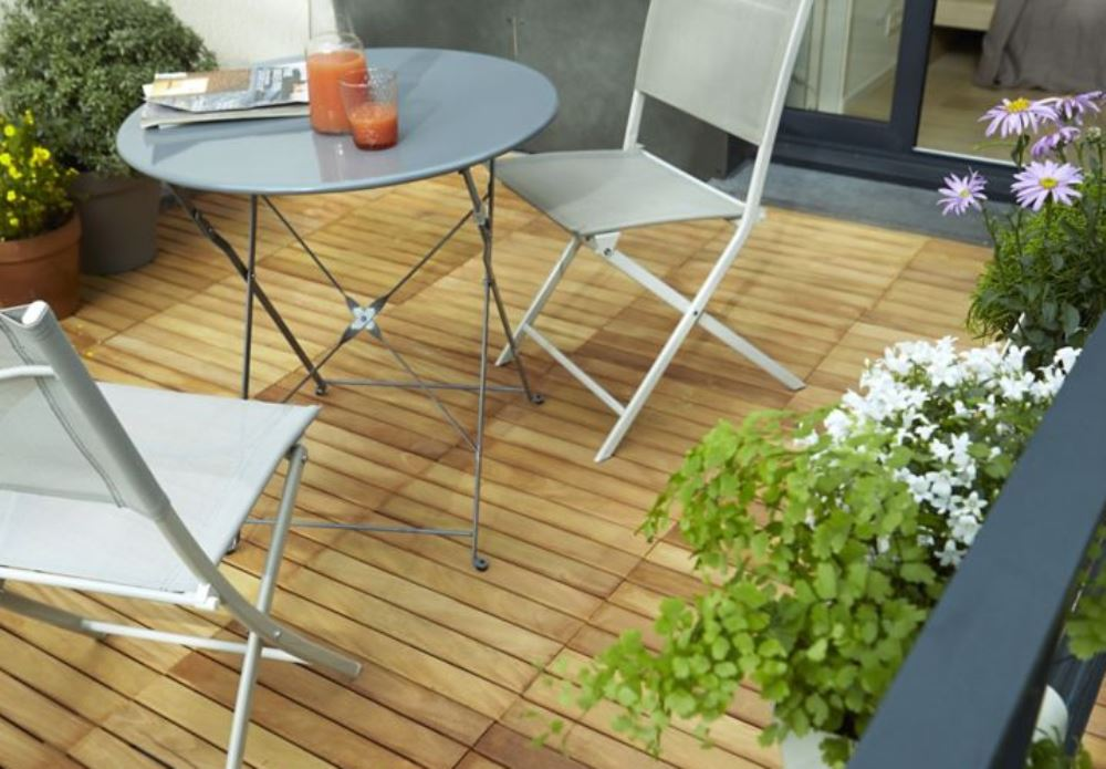 Wooden terrace, Castorama - BnbStaging le blog