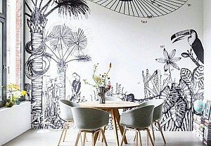 Bien fait tropical wallpaper - BnbStaging the blog