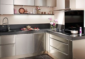 Lapeyre Kitchen in stainless steel