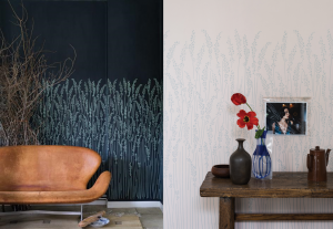 Rustic wallpaper design with wild grass