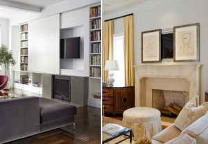 How to disguise TV in interiors - BnbStaging the blog
