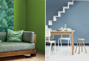 Greenery Pantone, blue grey Dulux, colours 2017 - BnbStaging le blog
