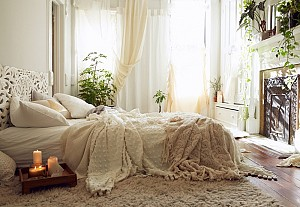 Romantic bohemian bedroom, Urban Outfitters