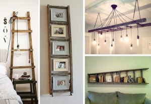 Upcycled ladders in interiors