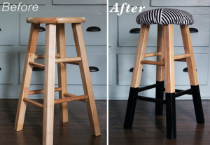 Before-after bar stools makeover, Sarah Hamilton