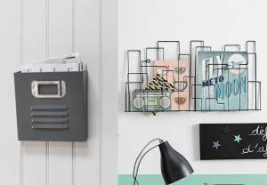 Two Wall Mount Magazine Racks