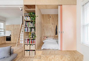 Plywood decor, Clare Cousins Architects - BnbStaging le blog