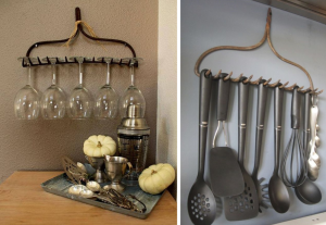 Recycling rakes in the kitchen