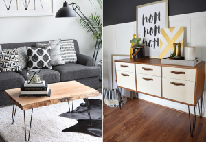 Hairpin legs on furniture - BnbStaging the blog