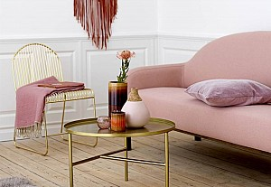 Interior with powder pink colour, Bloomingville
