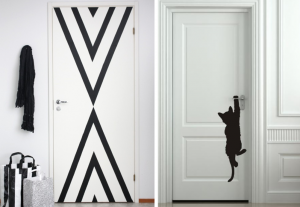 Decorative doors with stickers and washi tape, BnbStaging le blog