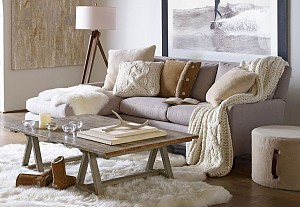 Cocooning atmosphere in a living room